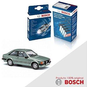 Kit Jogo Cabo+Velas Bosch Escort 1.6 8v AP1600 Gas 94-96