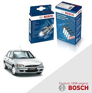 Kit Jogo Cabo+Velas Bosch Escort G2 1.8 8v Zetec-S Gas 96-02