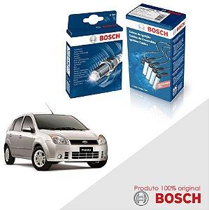 Kit Jogo Cabo+Velas Bosch Fiesta G3 1.6 8v Zetec Gas 10-11
