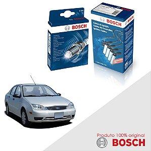 Kit Jogo Cabo+Velas Orig Bosch Focus 1.6 8V Zetec Gas 03-09