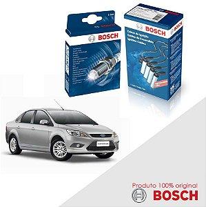 Kit Jogo Cabo+Velas Bosch Focus G2 1.6 16v Sigma Flex 10-13