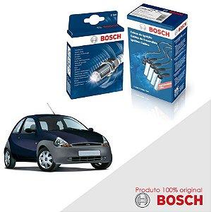 Kit Jogo Cabo+Velas Bosch Ka G1 1.0 8v Endura E Gas 97-99