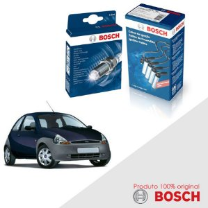 Kit Jogo Cabo+Velas Orig Bosch Ka G1 1.3 8v Zetec Gas 01-07