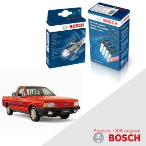 Kit Jogo Cabo+Velas Orig Bosch Pampa 1.8 8v AP1800 Gas 97-97