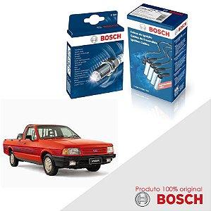 Kit Jogo Cabo+Velas Orig Bosch Pampa 1.8 8v AP1800 Gas 92-93