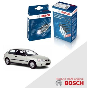 Kit Jogo Cabo+Velas Original Bosch Civic 1.6 16V  Gas 97-00