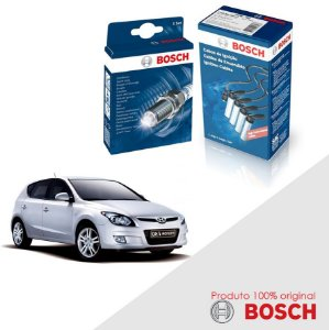 Kit Jogo Cabo+Velas Original Bosch I30 2.0 16v B2 Gas 07-13