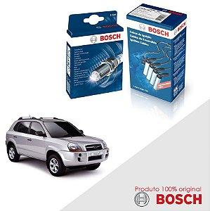 Kit Jogo Cabo+Velas Original Bosch Tucson 2.0 8v  Gas 10-12