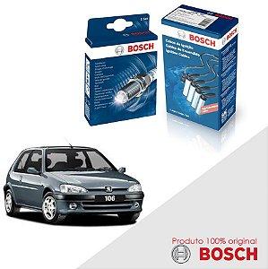 Kit Jogo Cabo+Velas Original Bosch 106 1.0 8V TU9M Gas 96-05
