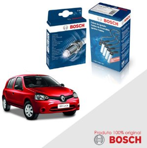 Kit Jogo Cabo+Velas Orig Bosch Clio 1.0 G2 16v D4D Flex 05-16