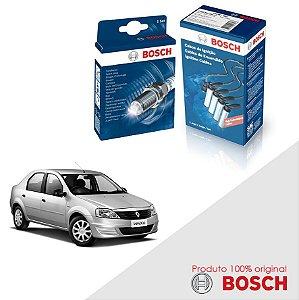 Kit Jogo Cabo+Velas Orig Bosch Logan 1.6 8v K7M Flex 07-13