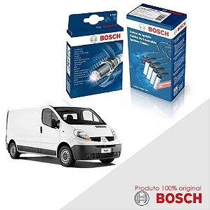 Kit Jogo Cabo+Velas Orig Bosch Trafic 2.0 8v f3r Flex 99-02