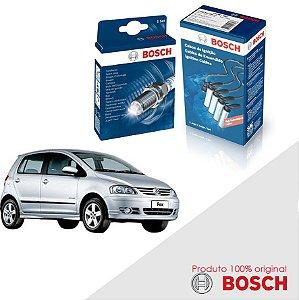 Kit Jogo Cabo+Velas Bosch Fox G1 1.6 8v TCO EA111 Flex 08-09