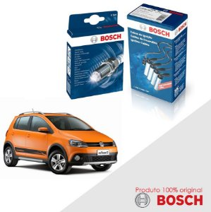 Kit Jogo Cabo+Velas Bosch Fox G2 1.6 8v TCO EA111 Flex 09-17