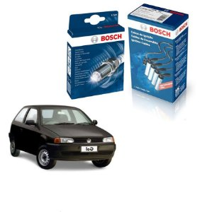 Kit Jogo Cabo+Velas Orig Bosch Gol G2 1.6 8v 541AP Gas 96-99