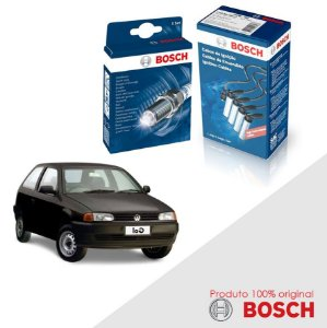 Kit Jogo Cabo+Velas Orig Bosch Gol G2 1.8 8v 543AP Gas 96-02