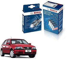 Kit Jogo Cabo+Velas Bosch Gol G3 1.6 8v 541 AP Gas 99-05