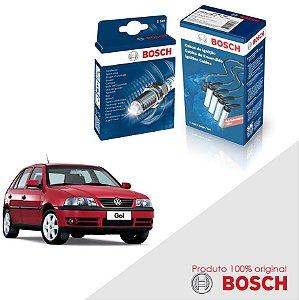 Kit Jogo Cabo+Velas Orig Bosch Gol G3 1.8 8v AP827 gas 99-03