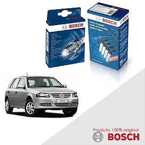 Kit Jogo Cabo+Velas Bosch Gol G4 1.6 8v AP827 Flex 07-08