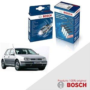 Kit Jogo Cabo+Velas Bosch Golf G3 2.0 8v APK / BER Gas 99-06