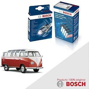 Kit Jogo Cabo+Velas Original Bosch Kombi 1.6 8V  Gas 84-91