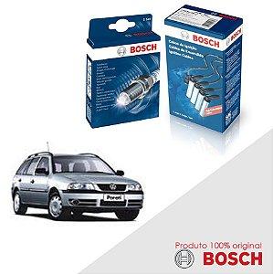 Kit Jogo Cabo+Velas Bosch Parati G3 1.8 8v AP827 Gas 99-05