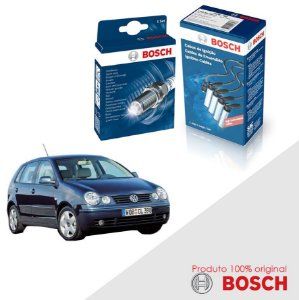 Kit Jogo Cabo+Velas Orig Bosch Polo 1.6 8v EA111 Gas 02-06