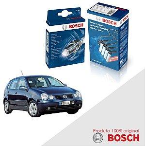 Kit Jogo Cabo+Velas Original Bosch Polo 2.0 8v  Gas 02-08