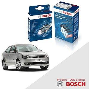 Kit Jogo Cabo+Velas Bosch Polo Sedan 1.6 8v EA111 Flex 08-16