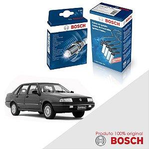 Kit Jogo Cabo+Velas Bosch Santana 2.0 8v AP2000 Gas 96-06