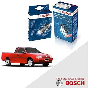 Kit Jogo Cabo+Velas Bosch Saveiro G2 1.6 8v AP Gas 97-00