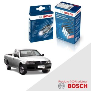 Kit Jogo Cabo+Velas Bosch Saveiro G3 1.8 8v AP Gas 00-05