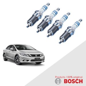 Jogo Vela Civic 1.8i 16v Sedan (R18A1) 12-16 Bosch Iridium