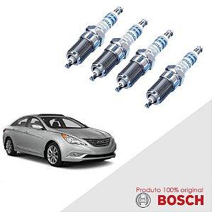 4 Velas Sonata 2.4 16v Theta II VVT DOHC 07-17 Bosch Iridium