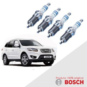 4 Velas Santa Fé 2.4 16v (G4KE L6 24T2) 09-12 Bosch Iridium
