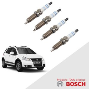 Jogo Vela SX4 2.0 16V  06-14 Orig Bosch Platina Dupla