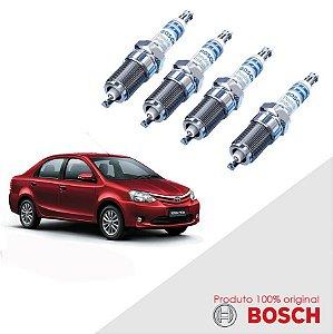 Jogo Vela Etios 1.3 16v DOHC T-FLEX 12-16 Orig Bosch Iridium