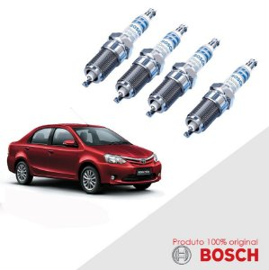 Jogo Vela Etios 1.5 16v 2NR-FE 12-16 Orig Bosch Iridium