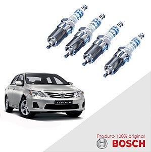 Jogo Vela Corolla  1.8 16V VVT-i Flex 08-15 Bosch Iridium