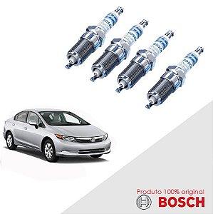 Jogo Vela Civic 1.8 16v i-Vtec 06-11 Orig Bosch Iridium