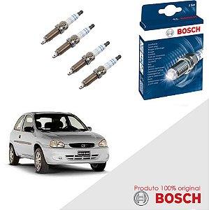 Kit Jogo Velas Orig Bosch Corsa 1.0 8v SOHC EFI Gas 94-96