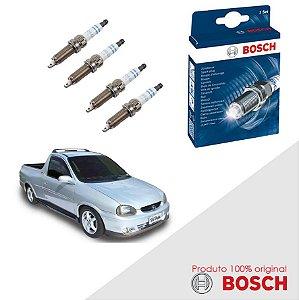 Kit Jogo Velas Original Bosch Corsa Pick-up 1.6 8v Gas 95-03