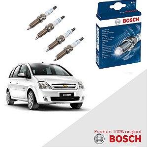 Kit Jogo Velas Orig Bosch Meriva 1.8 8v SOHC MPFI Gas 02-12