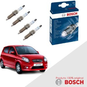 Kit Jogo Velas Original Bosch Picanto 1.0 e 1.1 Gas 04-11