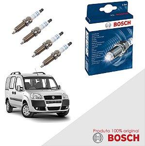 Kit Jogo Velas Orig Bosch Doblo G2 1.4  8v Fire Flex 09-16