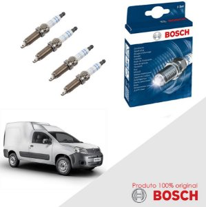 Kit Jogo Velas Orig Bosch Fiorino 1.4 8v Fire Evo Flex 13-17