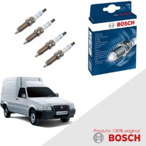 Kit Jogo Velas Original Bosch C3 1.4 8v Gas/Flex 03-12