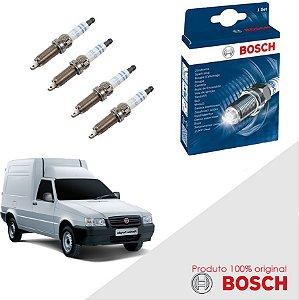 Kit Jogo Velas Bosch Fiorino Pick-up 1.3 8v Fiasa Alc 88-90