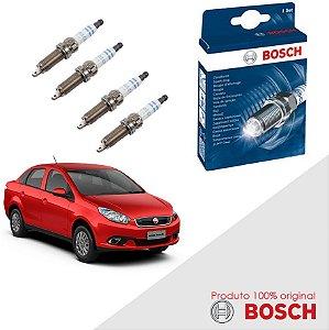 Kit Jogo Velas Bosch Grand Siena 1.4 8v Fire Evo Gas 12-17