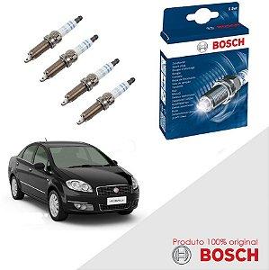 Kit Jogo Velas Orig Bosch Linea 1.8 16v E.torQ Flex 10-14